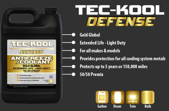 Tec-Kool Defense Gold 50/50 Premix