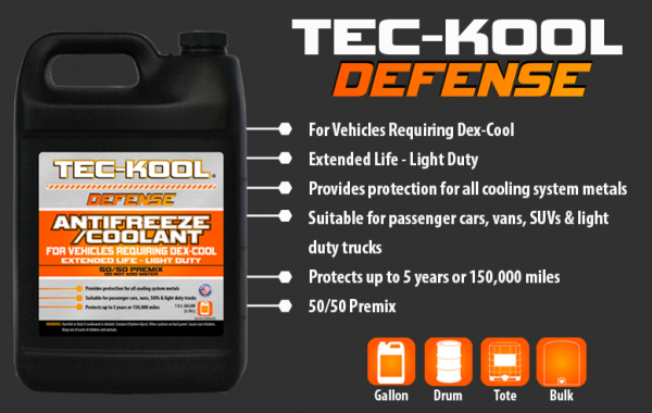 Tec-Kool Defense Orange 50/50 Premix
