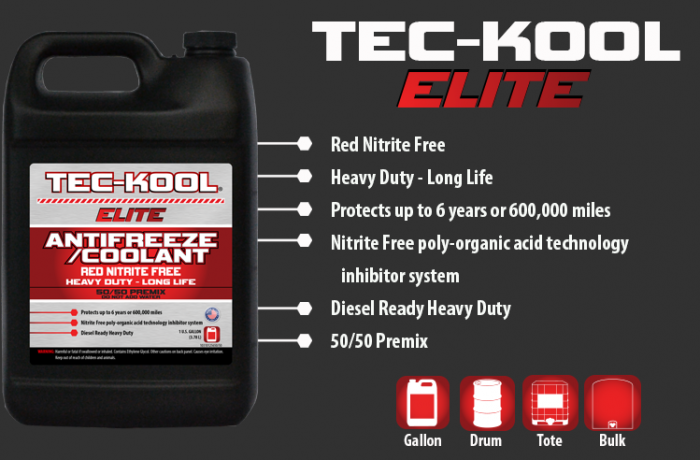 Tec-Kool Elite Red 50/50 Premix
