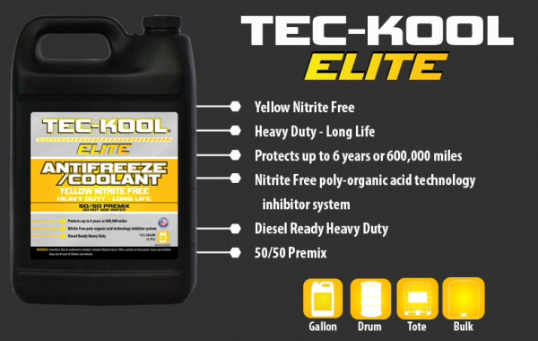 Tec-Kool Elite Yellow 50/50 Premix