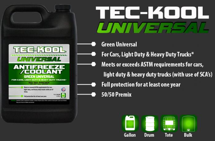 Tec-Kool Universal Green 50/50 Premix